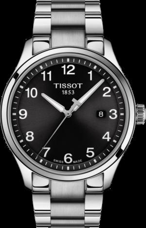 Herrenuhr Tissot Classic Gent XL mit schwarzem Zifferblatt und Edelstahlarmband