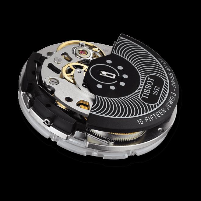 Herrenuhr Tissot Couturier Automatic Chronograph mit silberfarbenem Zifferblatt und Kalbsleder-Armband bei Brogle