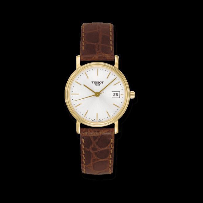 Armbanduhr Tissot Desire Gent mit silberfarbenem Zifferblatt und Kalbsleder-Armband