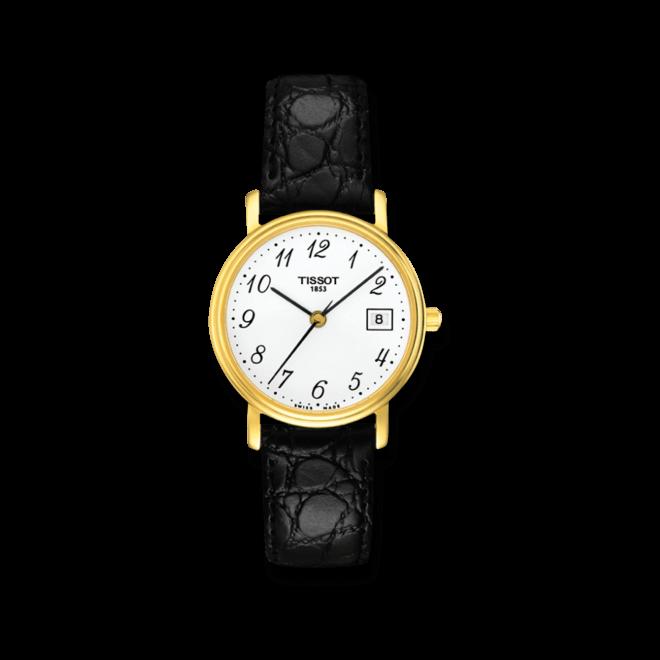 Damenuhr Tissot Desire Lady mit weißem Zifferblatt und Kalbsleder-Armband