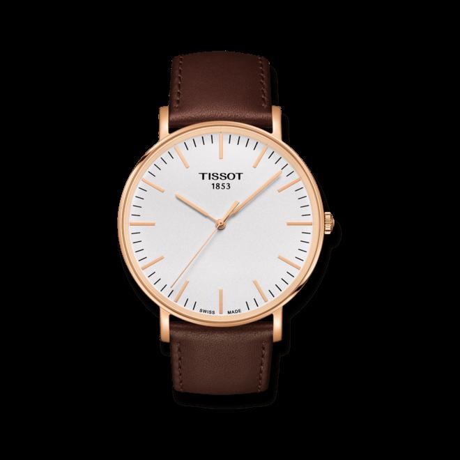 Herrenuhr Tissot Everytime Gent mit silberfarbenem Zifferblatt und Kalbsleder-Armband bei Brogle