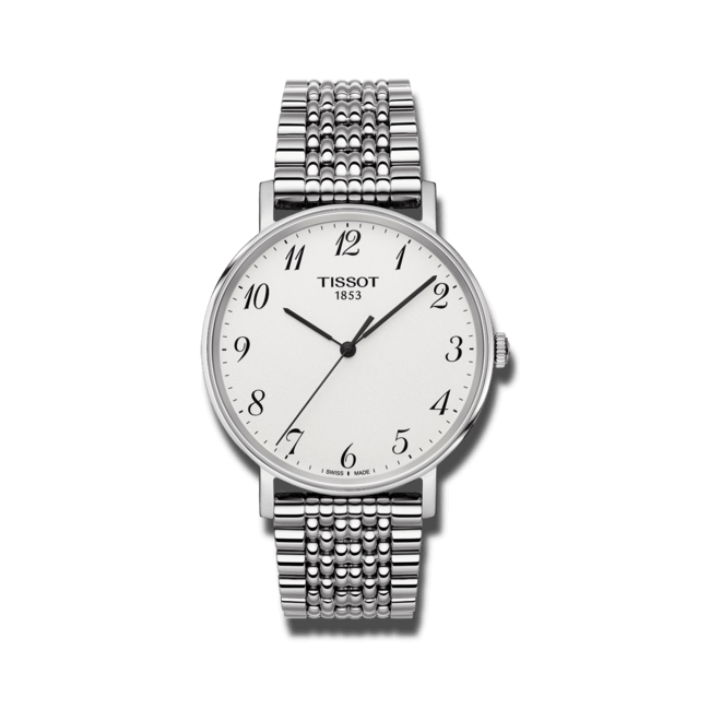 Armbanduhr Tissot Everytime Medium mit weißem Zifferblatt und Edelstahlarmband