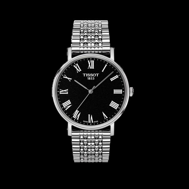 Armbanduhr Tissot Everytime Medium mit schwarzem Zifferblatt und Edelstahlarmband bei Brogle