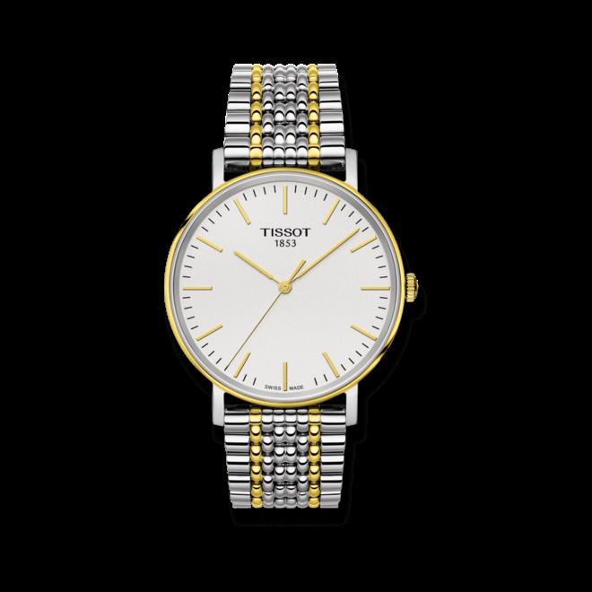 Armbanduhr Tissot Everytime Medium mit silberfarbenem Zifferblatt und Edelstahlarmband bei Brogle