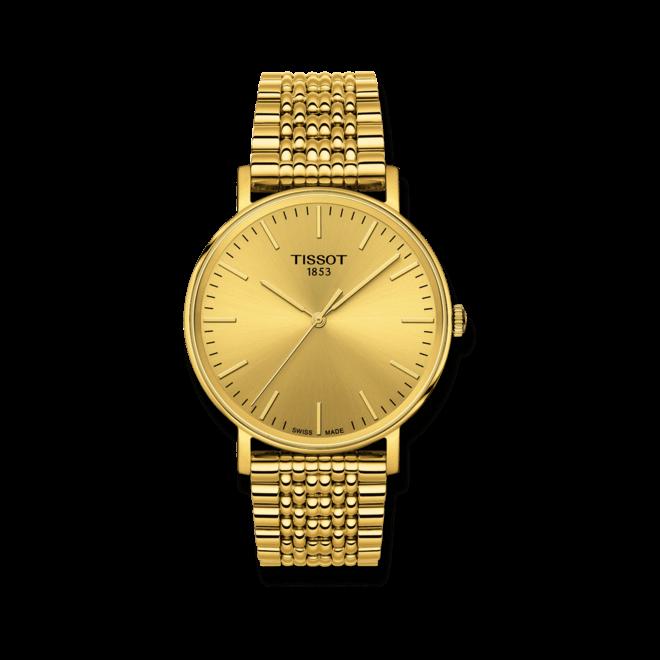 Armbanduhr Tissot Everytime Medium mit gelbgoldfarbenem Zifferblatt und Edelstahlarmband bei Brogle