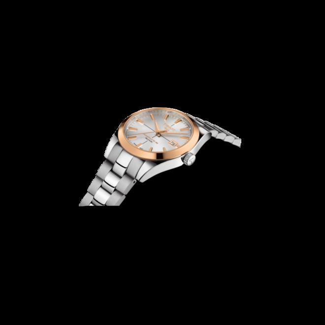Herrenuhr Tissot Gentleman Automatic Powermatic 80 Silicium mit silberfarbenem Zifferblatt und Edelstahlarmband bei Brogle