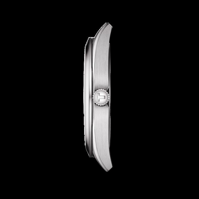 Herrenuhr Tissot Gentleman Quartz mit schwarzem Zifferblatt und Rindsleder-Armband bei Brogle