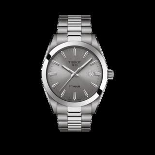 Tissot Herrenuhr Gentleman Titanium Quarz T127.410.44.081.00