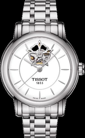 Damenuhr Tissot Lady Heart Automatic mit weißem Zifferblatt und Edelstahlarmband