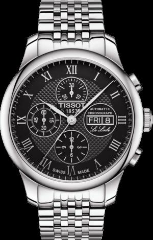 Herrenuhr Tissot Le Locle Automatic Chronograph mit schwarzem Zifferblatt und Edelstahlarmband