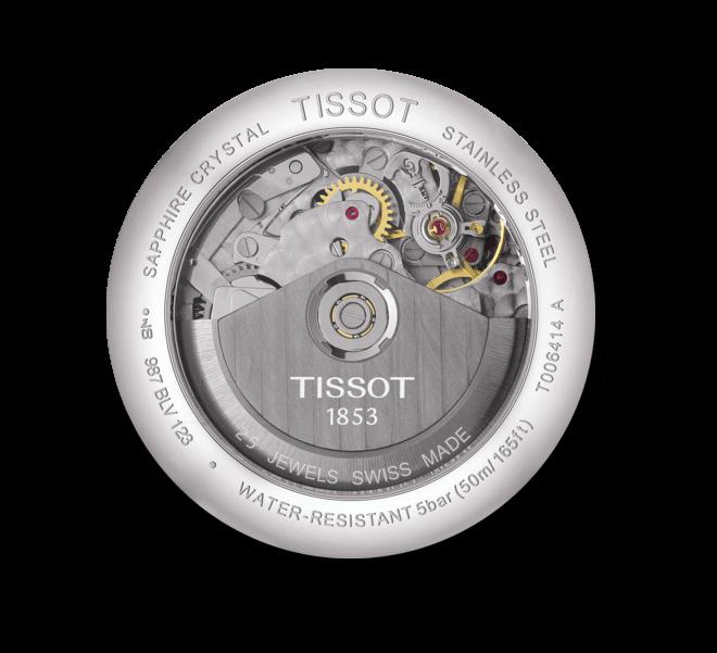 Herrenuhr Tissot Le Locle Automatic Chronograph mit elfenbeinfarbenem Zifferblatt und Armband aus Kalbsleder mit Krokodilprägung
