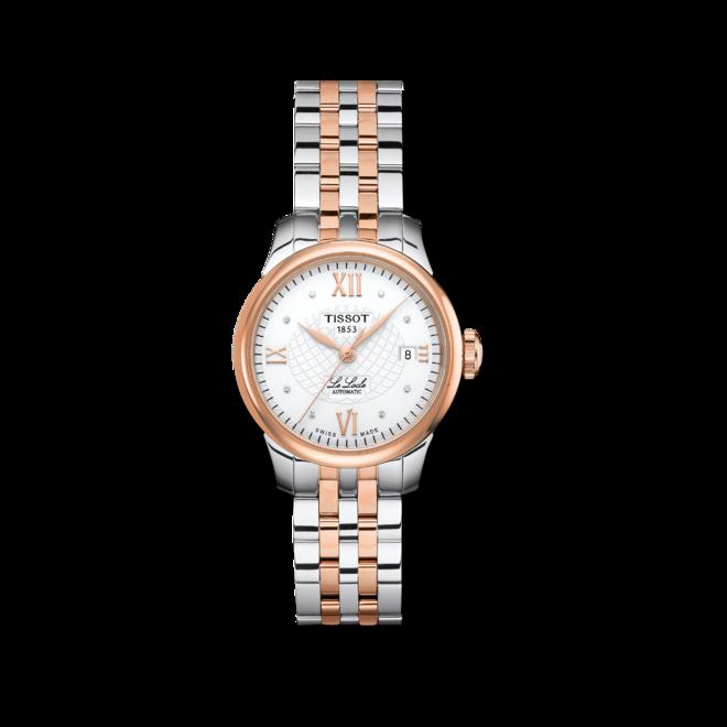 Damenuhr Tissot Le Locle Automatic Lady mit Diamanten, weißem Zifferblatt und Edelstahlarmband bei Brogle