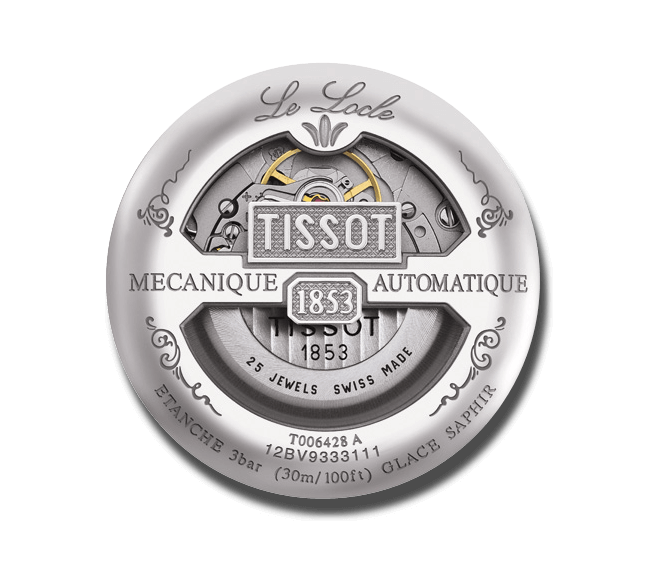 Herrenuhr Tissot Le Locle Automatic Petite Seconde mit silberfarbenem Zifferblatt und Edelstahlarmband