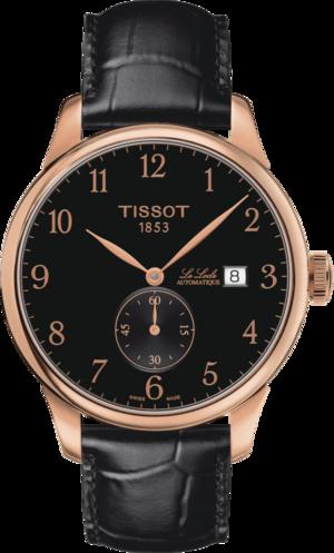 Herrenuhr Tissot Le Locle Automatic Petite Seconde mit schwarzem Zifferblatt und Rindsleder-Armband