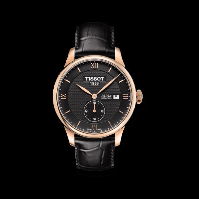 Herrenuhr Tissot Le Locle Automatic Petite Seconde mit schwarzem Zifferblatt und Kalbsleder-Armband