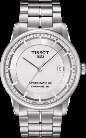 Herrenuhr Tissot Luxury Automatic Gent COSC mit silberfarbenem Zifferblatt und Edelstahlarmband