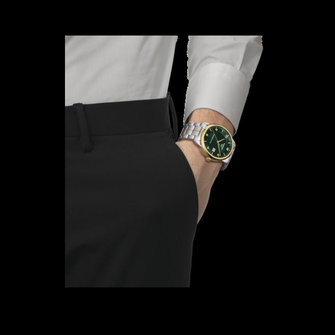 Herrenuhr Tissot Luxury Automatic Powermatic 80 mit grünem Zifferblatt und Edelstahlarmband bei Brogle