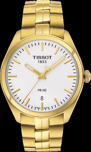 Herrenuhr Tissot PR 100 Gent mit weißem Zifferblatt und Edelstahlarmband