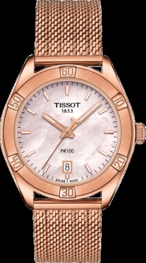 Damenuhr Tissot PR 100 Sport Chic mit Edelstahlarmband