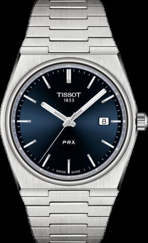 Herrenuhr Tissot PRX 40 205 Quarz mit blauem Zifferblatt und Edelstahlarmband