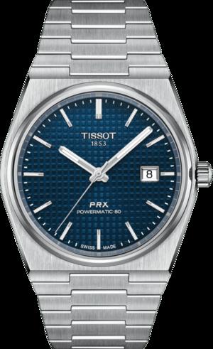 Herrenuhr Tissot PRX Powermatic 80 mit blauem Zifferblatt und Edelstahlarmband