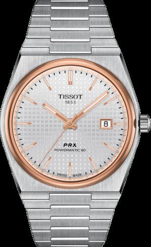 Herrenuhr Tissot PRX Powermatic 80 mit silberfarbenem Zifferblatt und Edelstahlarmband
