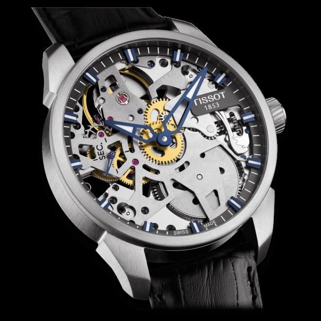 Herrenuhr Tissot T-Complication Squelette mit Kalbsleder-Armband bei Brogle