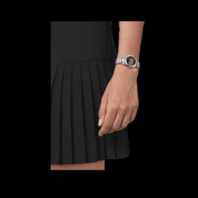 Damenuhr Tissot T-My Lady Automatic 29mm mit Diamanten, anthrazitfarbenem Zifferblatt und Edelstahlarmband bei Brogle