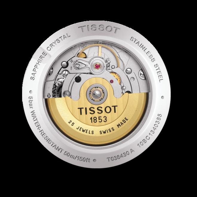 Herrenuhr Tissot T-One Automatic Gent mit schwarzem Zifferblatt und Edelstahlarmband bei Brogle