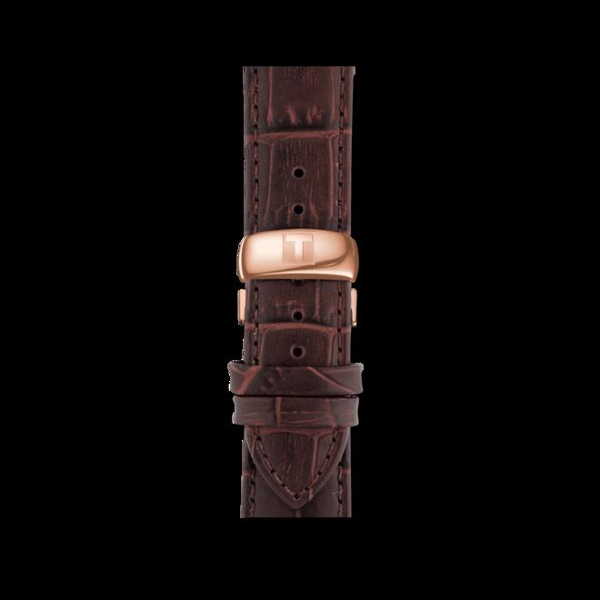 Herrenuhr Tissot Tradition Gent mit blauem Zifferblatt und Rindsleder-Armband bei Brogle
