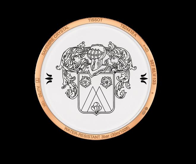 Herrenuhr Tissot Fascination Gent Quartz mit silberfarbenem Zifferblatt und Armband aus Kalbsleder mit Krokodilprägung