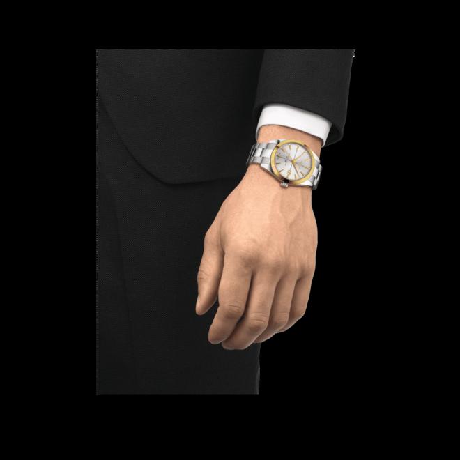 Herrenuhr Tissot Gentleman Automatic 40mm mit silberfarbenem Zifferblatt und Edelstahlarmband bei Brogle