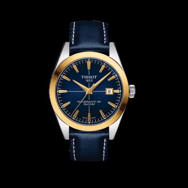 Herrenuhr Tissot Gentleman Automatic 40mm mit blauem Zifferblatt und Rindsleder-Armband bei Brogle