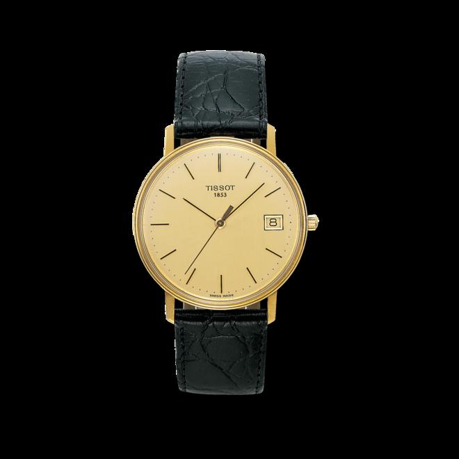 Herrenuhr Tissot Goldrun Hesalite mit champagnerfarbenem Zifferblatt und Rindsleder-Armband bei Brogle