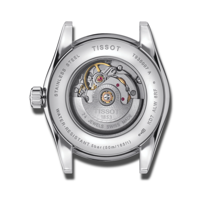Damenuhr Tissot T-My Lady Automatic 18K Gold mit Diamanten, braunem Zifferblatt und Rindsleder-Armband bei Brogle
