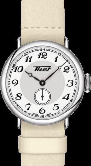 Armbanduhr Tissot Heritage 1936 Lady mit weißem Zifferblatt und Kalbsleder-Armband