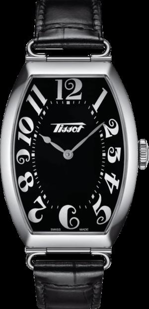 Herrenuhr Tissot Heritage Porto mit schwarzem Zifferblatt und Rindsleder-Armband