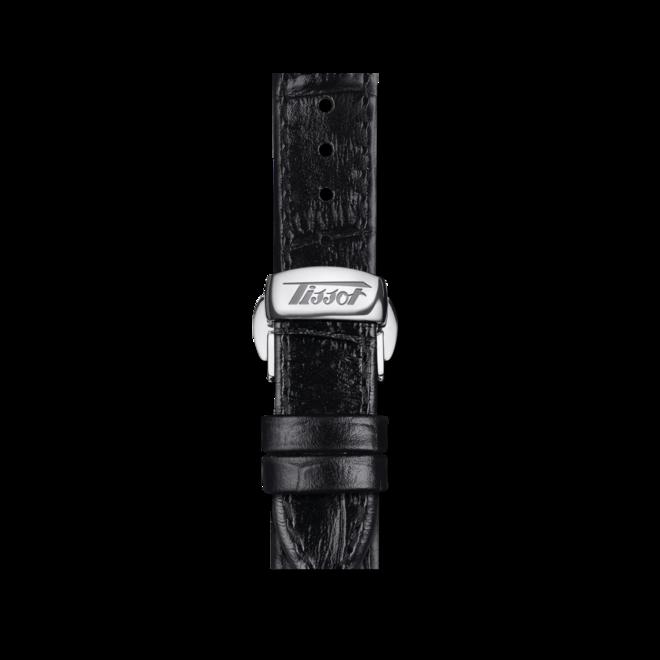 Herrenuhr Tissot Heritage Porto mit schwarzem Zifferblatt und Rindsleder-Armband bei Brogle