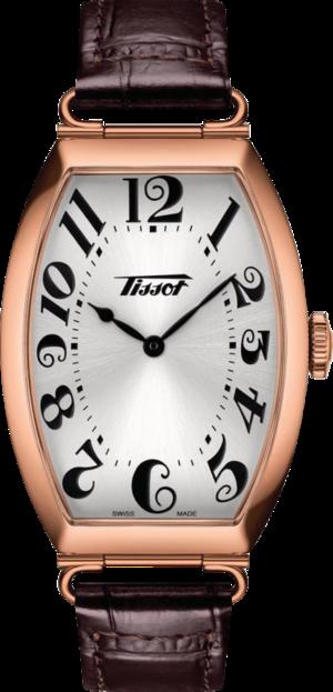 Herrenuhr Tissot Heritage Porto mit silberfarbenem Zifferblatt und Rindsleder-Armband