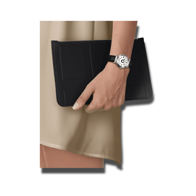 Damenuhr Tissot Memphis Lady mit weißem Zifferblatt und Synthetikarmband bei Brogle