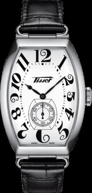 Herrenuhr Tissot Heritage Porto Mechanical mit weißem Zifferblatt und Rindsleder-Armband