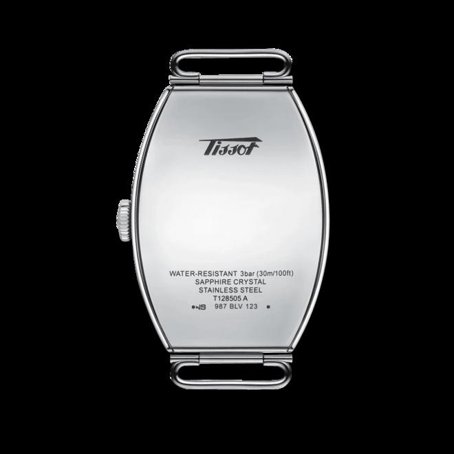 Herrenuhr Tissot Heritage Porto Mechanical mit weißem Zifferblatt und Rindsleder-Armband bei Brogle