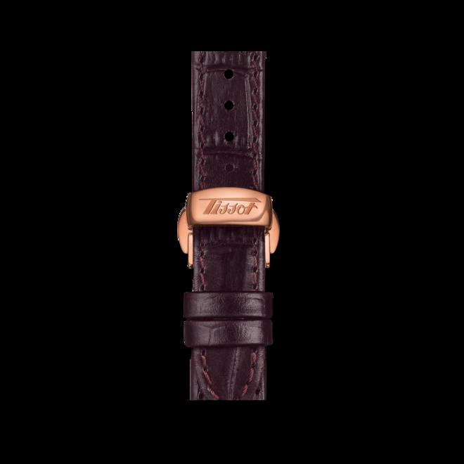 Herrenuhr Tissot Heritage Porto mit silberfarbenem Zifferblatt und Rindsleder-Armband bei Brogle