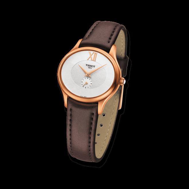 Damenuhr Tissot Bella Ora mit weißem Zifferblatt und Kalbsleder-Armband