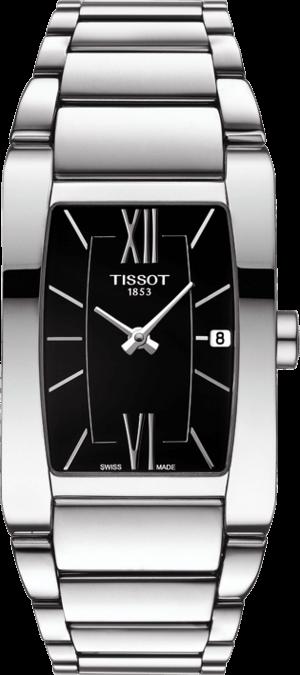 Damenuhr Tissot Generosi-T mit schwarzem Zifferblatt und Edelstahlarmband