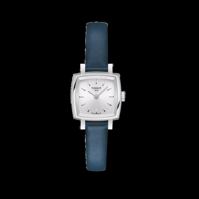 Damenuhr Tissot Lovely Square mit silberfarbenem Zifferblatt und Rindsleder-Armband bei Brogle