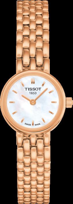 Damenuhr Tissot Lovely mit perlmuttfarbenem Zifferblatt und Edelstahlarmband