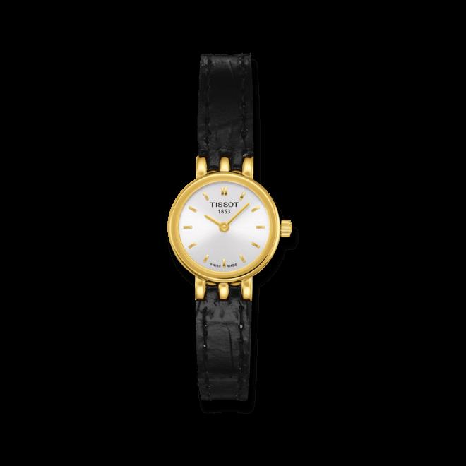 Damenuhr Tissot Lovely mit silberfarbenem Zifferblatt und Kalbsleder-Armband