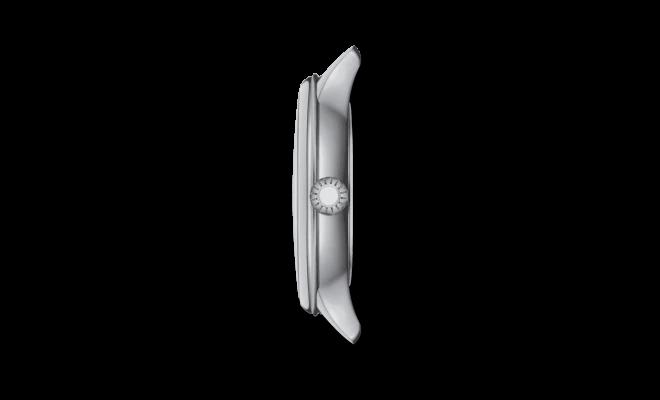 Damenuhr Tissot Odachi-T mit Diamanten, perlmuttfarbenem Zifferblatt und Rindsleder-Armband bei Brogle