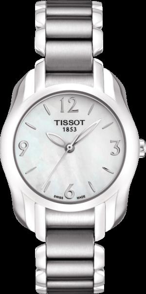 Damenuhr Tissot T-Wave mit weißem Zifferblatt und Edelstahlarmband